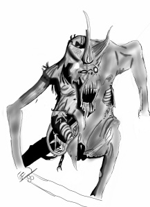 Digital version of pencil drawing