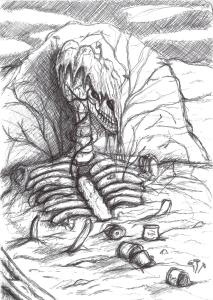 Comic page sketch